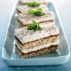 "A favorite Italian dessert, tiramisu (meaning ""pick-me-up,"" in reference to the espresso and cocoa it includes) makes a light yet rich finish to end a meal."