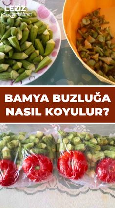 Bamya Buzluğa Nasıl Koyulur – Sulu yemek – The Most Practical and Easy Recipes Feel Good, Frozen, Food And Drink, Cooking Recipes, Salsa, Organic, Homemade, Vegetables, Decor Ideas