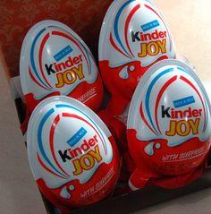 Kinder Joy as Easter Eggs?  http://foodquest.levyousa.com/kinder-joy-easter-eggs/