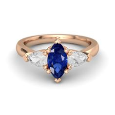 The Camille Ring customized in blue and white sapphire and rose gold love this too but my favorite is the Carrie ring