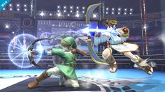 A really cool pic of Link and Pit shooting there bows together!