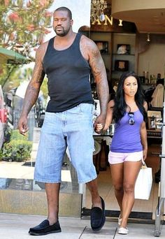 Shaq and his girlfriend = terrifying. I'm legitimately worried about her.