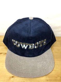 a0e20e3c454c9 Vintage Starline Corduroy NFL Dallas COWBOYS Hat Cap Snapback Blue Gray   fashion  clothing  shoes  accessories  mensaccessories  hats (ebay link)
