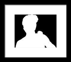 david bridburg,bridburg,michelangelo di lodovico buonarroti simoni,michelangelo,florence,florence italy,italian,statue,bust,david,statue of david,the statue of david,bust of david,david with the sling,black and white,black and white of david,david and goliath,biblical story,king david,david as a youth,david as a giant,high renaissance,silhouette,david's profile of david,profile of a young man,silhouette of a young man,a white version of david,white silhouette on a black background,david's…