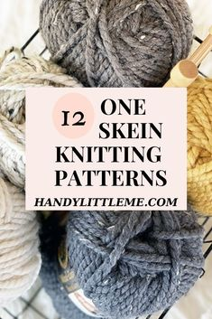 12 One skein knitting patterns. Make a hat using only one skein of yarn and see how quickly you can make gifts this year! There are 12 patterns to choose from including hats and mittens using mostly super bulky, super chunky, 14 Ply yarn. Mens Hat Knitting Pattern, Sweater Knitting Patterns, Free Knitting, Simple Knitting, Crochet Patterns, Knit Or Crochet, Crochet Hats, Knitting For Charity, Moss Stitch