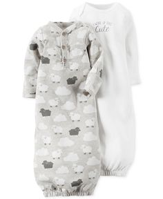 Carter's Baby Girls' or Baby Boys' 2-Pack Little Lamb Core Gowns