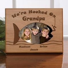 Memories Photo Frame - Fishing with Grandpa Personalized Fishing Picture