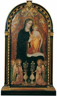 Rossello di Jacopo Franchi, THRONENDE MADONNA VON ENGELN UMGEBEN, Auktion 903 Alte Kunst (900 C), Lot 1052