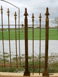Side Posts for Gates Made to FIT 5' Fencing 5' Wrought Iron Fencing & Gates This listing we will be using 5' tall Side Posts. The Side Posts shown