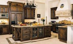 Tuscan kitchen design immediately conjures images of Italy and sunlight and warmth. In fact these kinds of images are just what you need to think of when coming up with the perfect Tuscan kitchen desi. Tuscan Kitchen Design, Country Kitchen Designs, Interior Design Kitchen, Interior Modern, Modern Decor, Free Standing Kitchen Cabinets, Rustic Kitchen Cabinets, Walnut Kitchen, Warm Kitchen