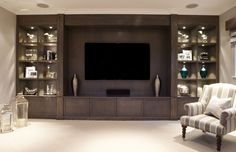 Excepcional Bespoke entertainment rooms and TV units by The Wood Works are designed for your. Bespoke entertainment rooms and TV units. Living Room Wall Units, Living Room Partition, Living Room Tv Unit Designs, Home Living Room, Living Room Furniture, Media Wall Unit, Tv Wanddekor, Modern Tv Wall Units, Tv Unit Decor