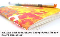 Gelli Print Note Book Tutorial by Vintage Page Designs!