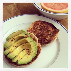 .@ballet Beautiful | Happy weekend! Healthy pre workout breakfast today! Avocado, chili flakes &am... | Webstagram