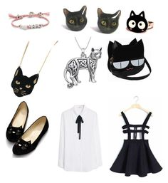 """I like cats"" by sketchmekayla ❤ liked on Polyvore featuring Chicnova Fashion, Venessa Arizaga, MANGO, Carolina Glamour Collection and cats"