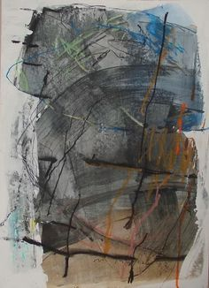 Maria Balea - ORIENTAL - mixed media on carton, 2012, 50 x 70 cm