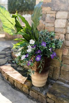 As much as I positively love gardening in my containers every year, there are a few flower pots that I've had it with. Some of my container planter… Faux Outdoor Plants, Outdoor Flowers, Outdoor Planters, Faux Plants, Flower Planters, Flower Pots, Potted Plants, Porch Planter, Railing Planters