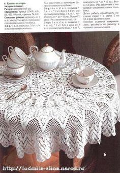 Delicadezas en crochet Gabriela: Calados ganchillo manteles.Varios modelos