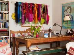 Tecidos na decoração - A vez dos lenços - Revista Westwing