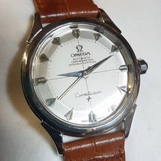 A special gift for valentines day? Is a vintage watch too much? Yes/no how about this 1950s omega constellation chronometer, stainless steel with attractive heart batons. 20% off if you mention this post.  #valentines #valentinesgifts #omega...