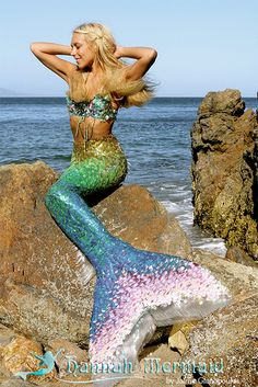 Hannah Mermaid rainbow tail