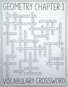 High School Geometry Vocabulary Bingo | Teaching ideas | Pinterest ...