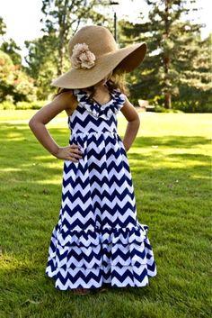 Number 1 Seller Little Girls Dresses Blue by AdalynsBoutique