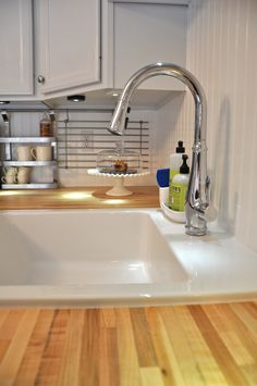 Undermounting the ikea domsjo sink kitchens forum for Ikea kitchen sink domsjo