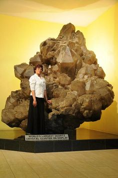 Largest Quartz crystal cluster on display Kristall Galerie Namibia