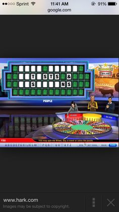 This is a picture of the famous TV show wheel of fortune. As a kid my mother and I would watch this every week night at 7pm. as time passed I found myself knowing how to play myself and even being good at it. The way to play it is guess letters and solve the puzzle. I think this helped my literacy experience.