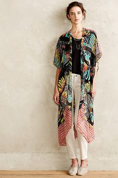 Anthropologie Plumed Kimono Cardigan #anthrofav