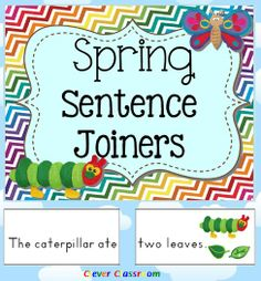 Spring Sentence Joiners Center Activity - 17 pages$