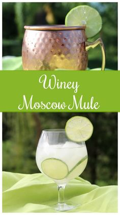 Add your favorite Chardonnay into the traditional Moscow Mule and you have the Winey Moscow Mule Cocktail. Light and refreshing, this drink is a must try. Fun Cocktails, Fun Drinks, Yummy Drinks, Cocktail Recipes, Cocktail Food, Margarita Recipes, Alcoholic Beverages, Moscow Mule, Alcohol Recipes