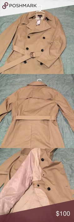 Beige trenchcoat Brand new trench coat was a gift but a little to small for me, goes 2in above the knee I'm 6'0 H&M Jackets & Coats Trench Coats