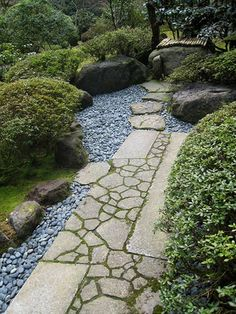 If you live in a dry and arid climate then your desert landscaping is going to take a little more planning than some other parts of the country. desert landscaping will have to work with a plan that includes only plants and trees that Garden Paving, Garden Steps, Mosaic Garden, Garden Paths, Japanese Garden Landscape, Japanese Garden Design, Landscaping With Rocks, Backyard Landscaping, Japan Garden