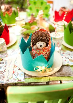 Very cute woodland forest critters kids birthday party theme