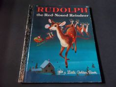 RUDOLPH THE RED-NOSED REINDEER Little Golden Book RICHARD SCARRY 1971 printing