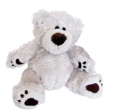 Lil' Elliot White. This little guy is a smaller version of Elliot but just as cute.    #sendateddy #teddybear #toy #gift