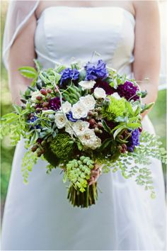 mossy greens, berries, succulents, spray roses, dahlias, maidenhair fern bouquet with texture wedding flowers green woodland
