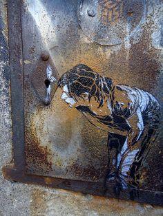 Rome street art by C215, via Flickr.