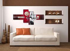 Image sur toile 6810 195 x 80 cm XXL optique peints à la main Tableaux pour la mur, encadrés, prêts à poser, tout les images sur châssis géant bois véritable.: Amazon.fr: Cuisine & Maison