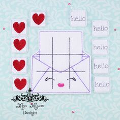 Valentine Kawaii Love Envelope TTT ITH Embroidery design From Miss Meggie Designs