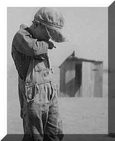 Boy during Dust Bowl.