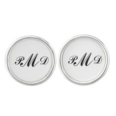 Monogram Silver Plated Cufflinks makes a great gift!