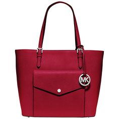 9a61bea510 Buy MICHAEL Michael Kors Jet Set Item Large Pocket Leather Tote Online at  johnlewis.com