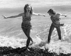 It's weird to think that 70 years ago, today's go-to swimsuit for women did not exist - http://www.chron.com/life/article/bikini-8338284.php (Photo via Getty Images)