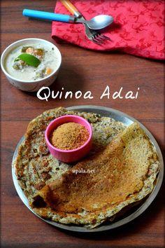 Quinoa Banana Flower Adai/Quinoa Vazhaipoo adai dosa (No Onion No Garlic)   http://www.upala.net/2017/04/quinoa-banana-flower-adaiquinoa.html