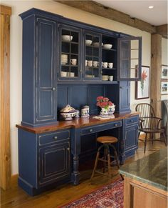 Casual Country Rustic Kitchen By Wendy Johnson If You Re Hesitant To Commit To An Entire Kitchen S Worth Of Painted Cabinetry Consider Transforming Just