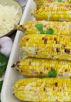 One of my favorite summer recipes is this Roasted Parmesan Corn on the Cob recipe. The flavor combination of the parmesan cheese with the butter and garlic takes ordinary sweet corn to a whole new level.