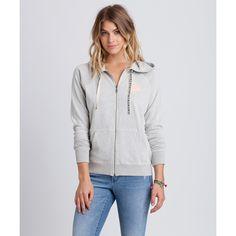 Billabong Women's Pls Stand By Zip Up Hoodie (€26) ❤ liked on Polyvore featuring tops, hoodies, fleece tops, ice athletic grey, zip hoodies, zip hooded sweatshirt, zippered hooded sweatshirt, gray hooded sweatshirt and zip hoodie