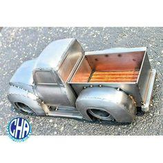 Classic slammed pick up from wood bed tig welding  sculpture metal art cold hard art